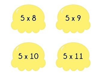 Ice Cream Cone Multiplication Match Game x5