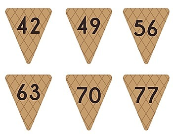Ice Cream Cone Multiplication Match Game x7