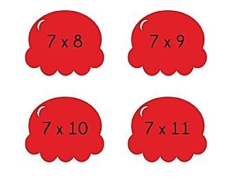 Ice Cream Cone Multiplication Match Game x7