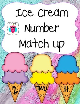Ice Cream Cone Number Match Up