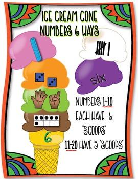 Ice Cream Cone Numbers 6 Ways