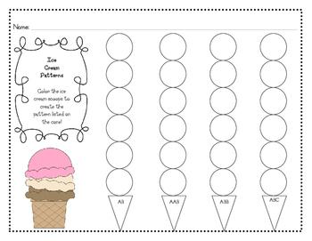 Ice Cream Cone Patterns