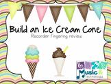 Ice Cream Cone Recorder Review Printable