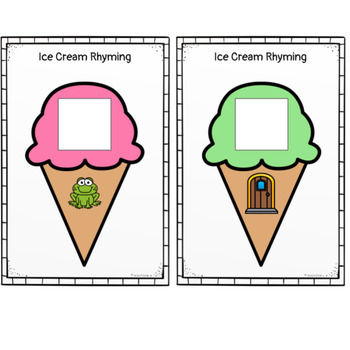 Ice Cream Cone Rhyming Words- A Matching Activity