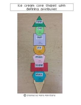 Ice Cream Cone Shape Attributes