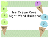 Ice Cream Cone Sight Word Builder