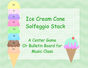 Ice Cream Cone Solfeggio Stack