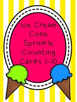 Ice Cream Cone Sprinkle Counting Freebie