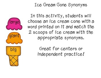 Ice Cream Cone Synonyms