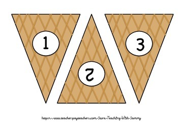 Ice-Cream Cone Ten Frame Matching Activity