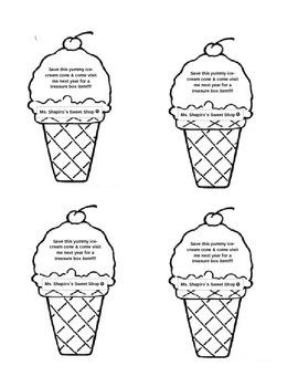 Ice-Cream Cone Treasure Box Ticket