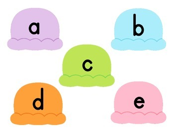 Uppercase/Lowercase Letter Matching Activity {Ice Cream}