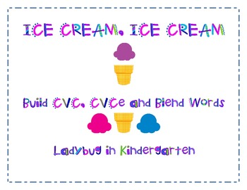 Ice Cream Cone Word Making