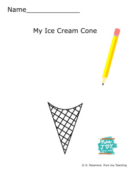 Ice Cream Cone Worksheet Free coloring page Inspire stories