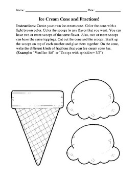 Ice Cream Cone and Fractions!