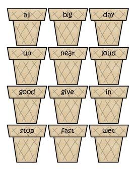 Ice Cream Cones Antonyms Game