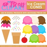 Ice Cream Cones Clip Art (Digital Use Ok!)