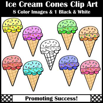 Ice Cream Cone Clip Art Summer Theme Commercial Use SPS