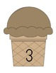 Ice Cream Cones Counting Mats
