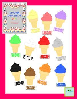 Ice Cream Cones Full of Color