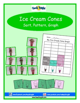 Ice Cream Cones Sort, Pattern, Graph