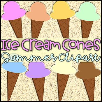Ice Cream Cones- Summer Clipart