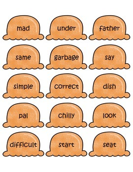 Ice Cream Cones Synonyms Game
