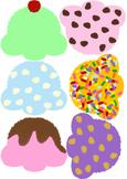 Ice Cream Cones Theme Birthday Display Board