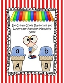 Ice Cream Cones Uppercase and Lowercase Alphabet Matching