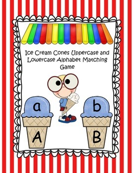 Ice Cream Cones Uppercase and Lowercase Alphabet Matching