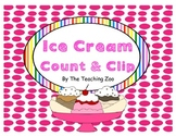 Ice Cream Count & Clip 1-20