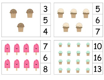 Ice Cream Count & Clip 1-20