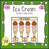 Ice Cream Count and Clip Task Cards