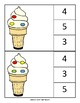 Ice Cream Count and Clip (Up to 10)
