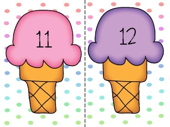 Ice Cream Counting Mats