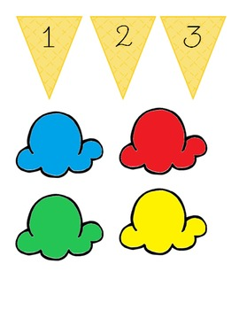 Ice Cream Counting Pieces - Interactive Bulletin Board