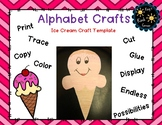 Ice Cream Craft Letter i