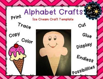 Ice Cream Craft Letter i