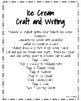 Ice Cream Craft and Writing (Summer, End of Year)