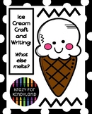 Ice Cream Craft and Writing for Kindergarten (Summer, End