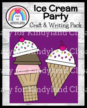 Ice Cream Craft and Writing