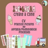 Ice Cream Create a Cone: CV practice pictures