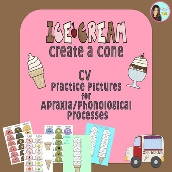 Ice Cream Create a Cone: CV practice pictures