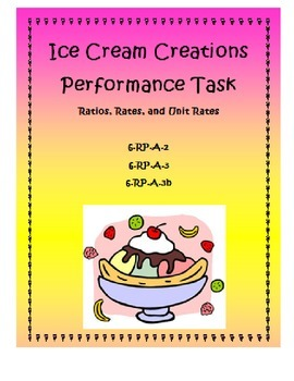 Ice Cream Creations Performance Task: Ratios, Rates, and Unit Rates