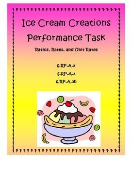 Ice Cream Creations Performance Task: Ratios, Rates, and U
