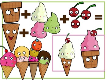 Ice Cream Cuties + Build A Cone! (Digital Clip Art)