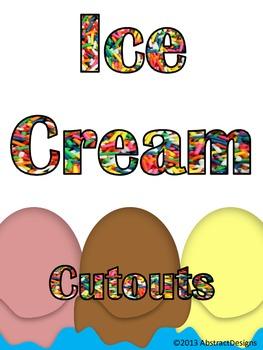 Ice Cream Cutouts