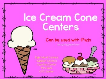 Ice Cream Day Centers ~ Reading and Math