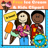 Ice Cream Day Freebie: Kids, Ice Cream, and Popsicle Clipart