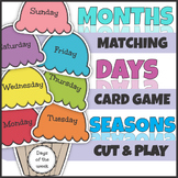 Ice Cream Days Months and Seasons Match